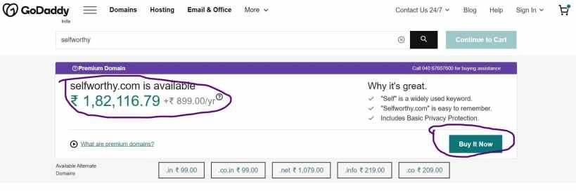New available Premium Domain