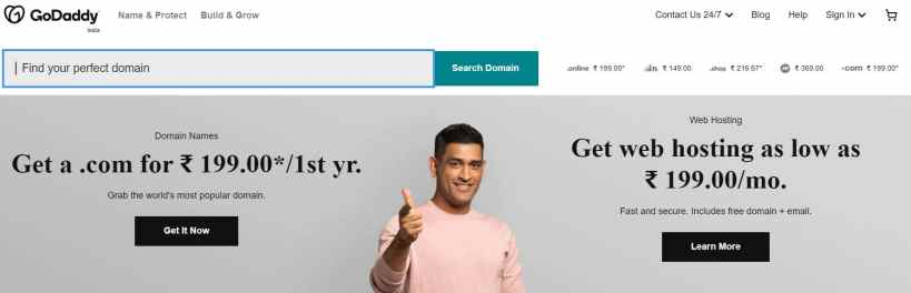 Step1: Buy Domain Name from GoDaddy