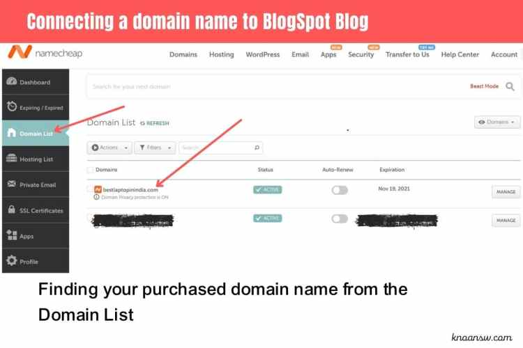 How to connect a custom domain name with your BlogSpot Blog?