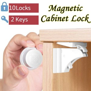 Baby Proofing Magnetic Cabinet Locks Child Safety 10 Pack Children Proof Cupboar