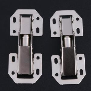 10pcs/SET 3 Inch Bridge Shaped Spring Frog Hinge Cabinet Closet Door Hinges No Drilling Hole Furniture Hardware Kitchen Cabinet