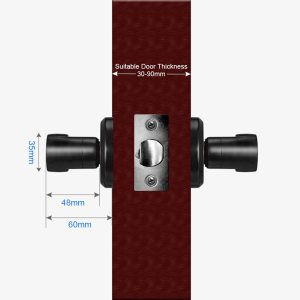 Door Handle Set Fingerprint Handle Lock Fingerprint Key Left or Right Open 60/ 70mm Single Latch Smart Fingerprint Door Lock