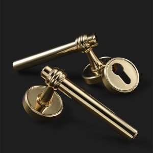 High Quality Modern Gold Interior Door Handle Door Lock Door Hardware Handles for Interior Door