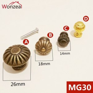 2pcs/Lot Wonzeal Vintage Small Case Cabinet Cupboard Drawer Pull Handle Dome Knob Jewelry Box Mini Decorative Knobs Bronze
