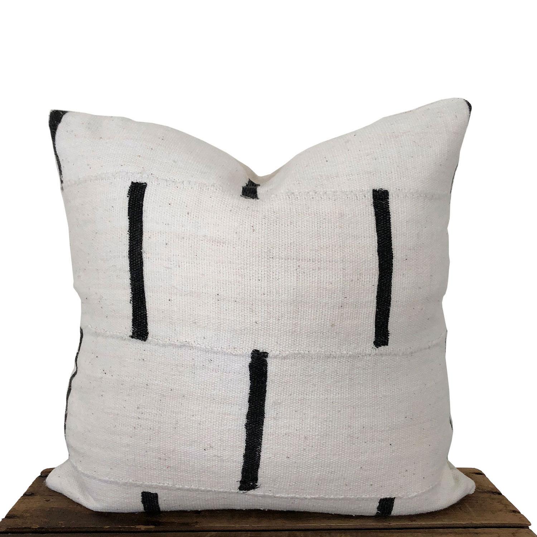 African indigo and mudcloth pillows