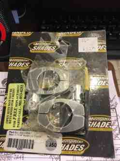 """Memphis Shades 1-1/4"""" Handlebar Clamps For Windshields"""