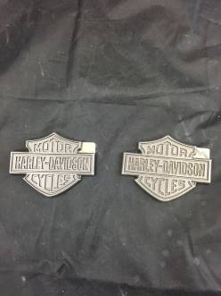 New Sportster 49ers Bar & Shield Logo Fuel Tank Medallions