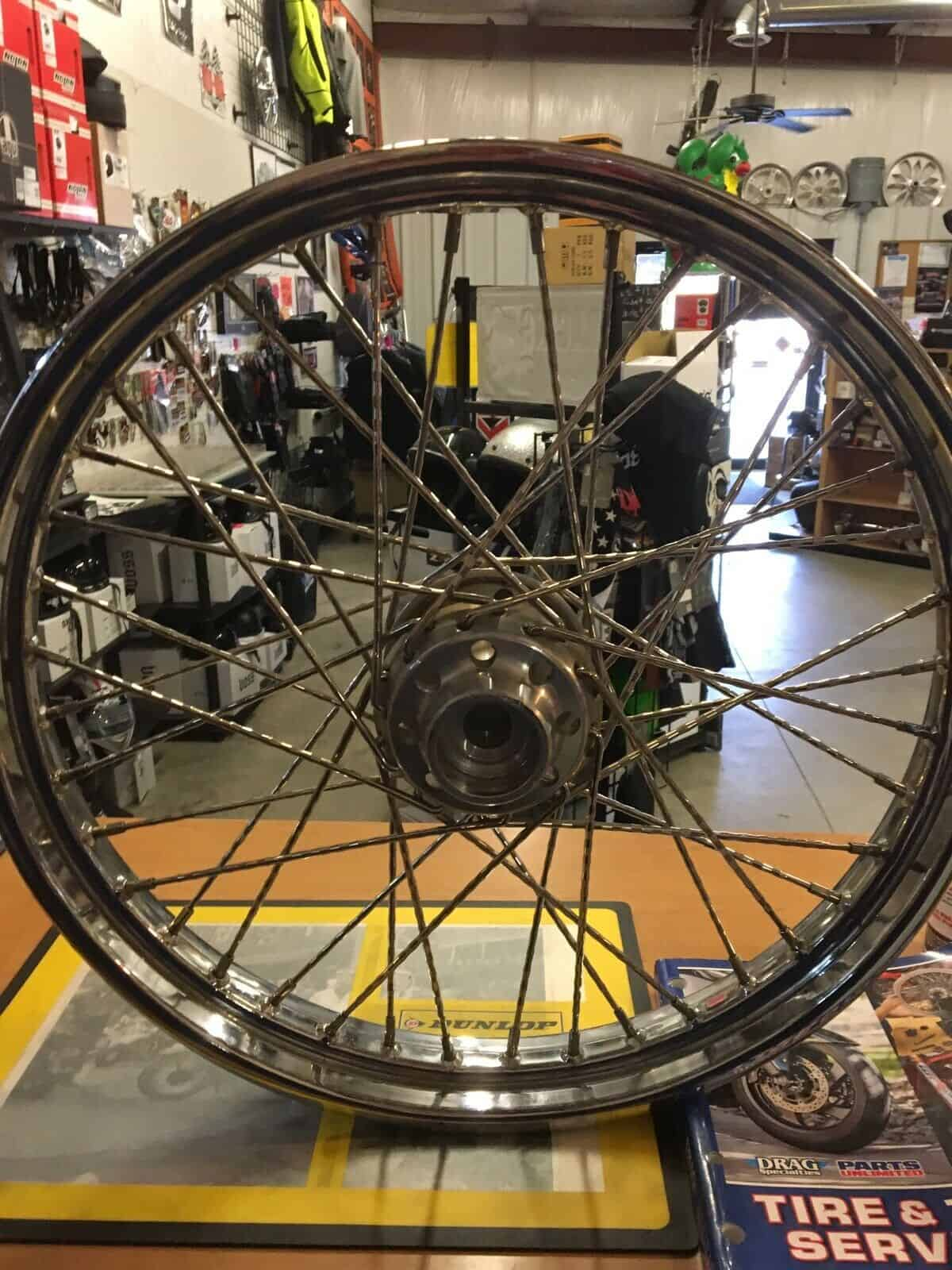 "Harley Davidson 21"" Wheel With Spokes #43662-80B - Knobtown Cycle"