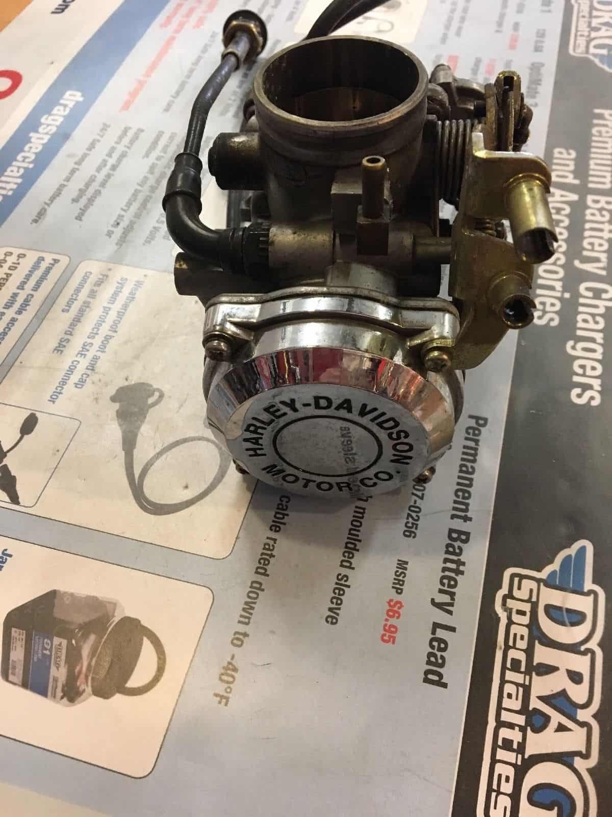 HD Stock Cv Carburetor With Chrome Top - Knobtown Cycle