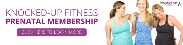picture of an advertisement for the Knocked-Uo Fitness prenatal membership program by Erica Ziel