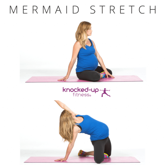 picture of mermaid pregnancy stretch
