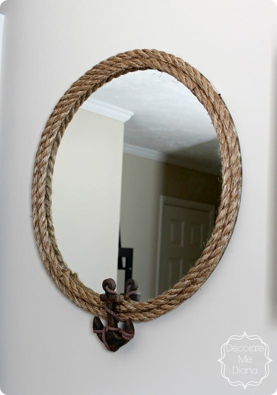 Nautical Rope Mirror With Anchor Knockoffdecor Com