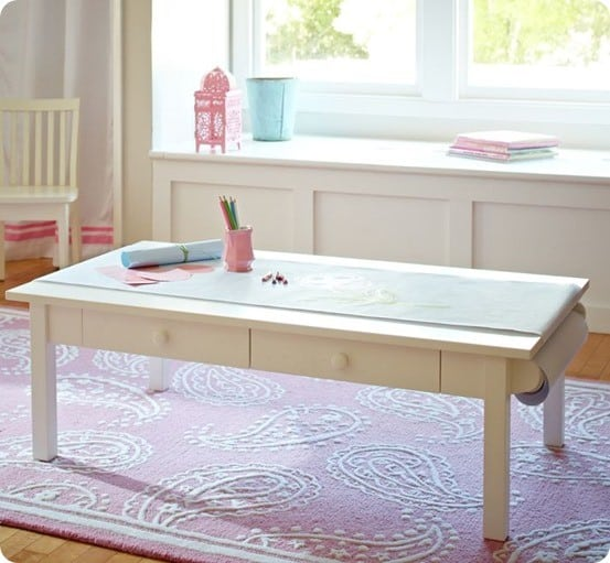 Turn A Coffee Table Into A Kids Art Table