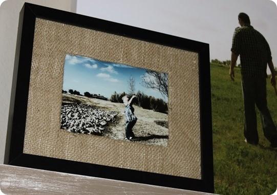 Frames With DIY Burlap Matting
