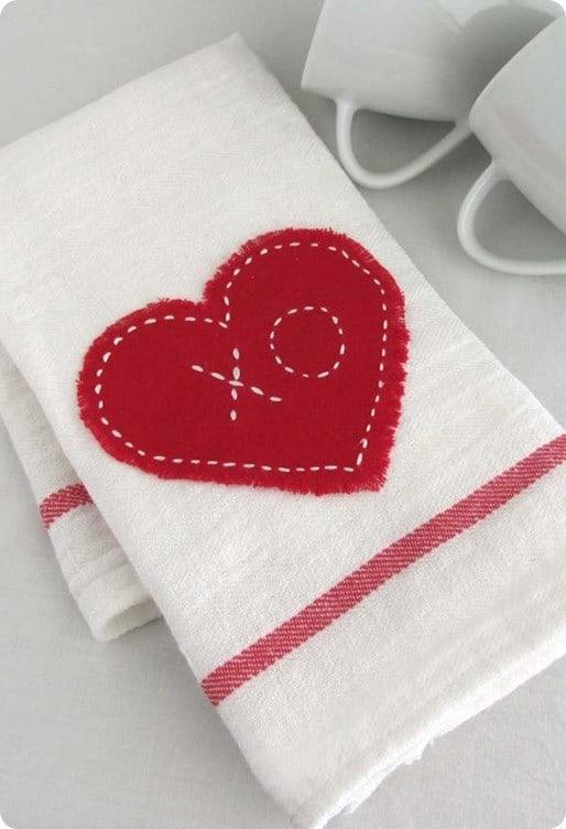 Bren Inspired Pottery Barn Valentine Kitchen Towel