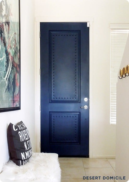 Navy Studded Door Makeover