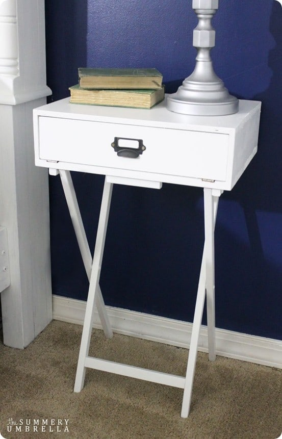 Tv Tray To Campaign Nightstand Knockoffdecor Com