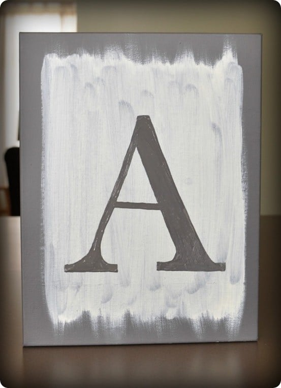 Painted Letter Canvas Art
