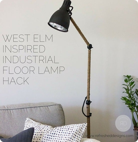 Industrial Floor Lamp Ikea Hack Knockoffdecor Com