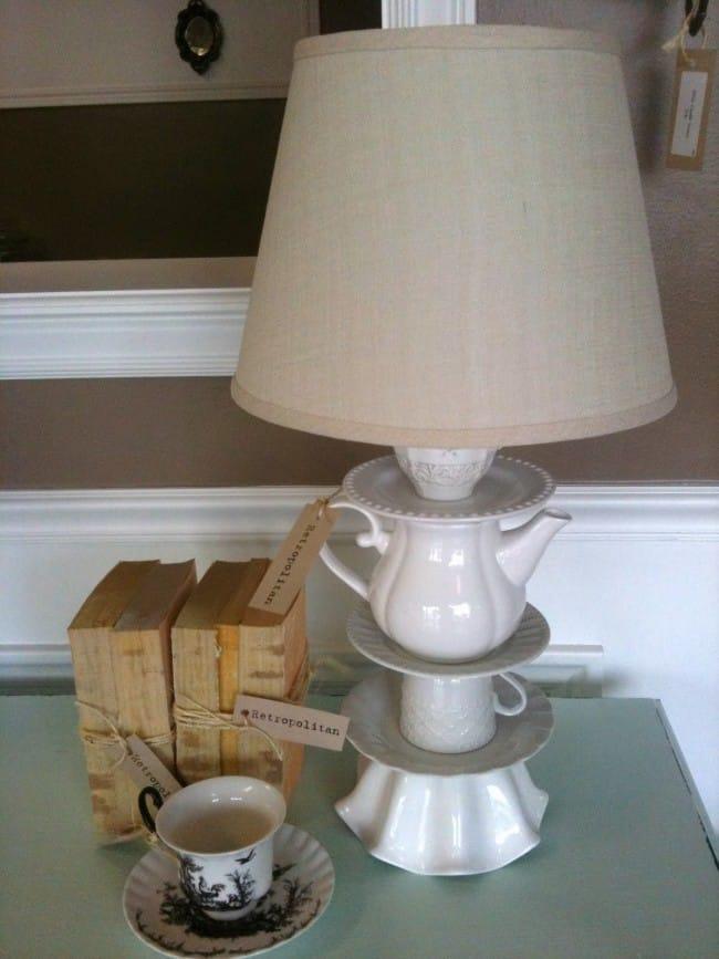 Cute DIY Teapot Lamp Inspired By Anthropologie