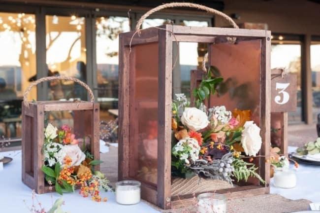 wedding decor rustic lantern