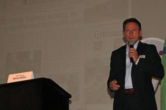 Keynote bei der Regionalbahntagung Gmunden. Foto Höller