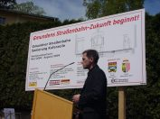 Start Ausbau Gmundner Strassenbahn 2004