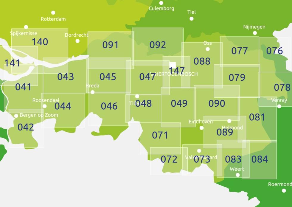 zoekkaart Knooppuntkaart Noord Brabant
