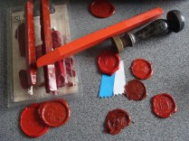 Staafjes zegels- Bars wax seals