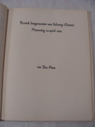 In het Gastenboek - Inside the guestbook