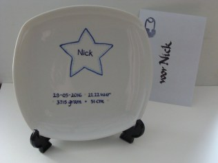 Geboorte bord Nick - Birth plate Nick
