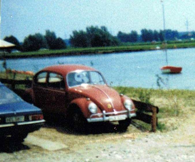 Käfer und Manta am See