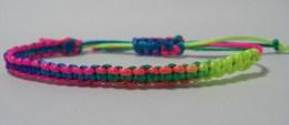 Rainbow Satin Adjustable Bracelet