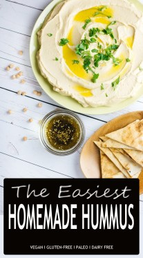 The Easiest Homemade Hummus