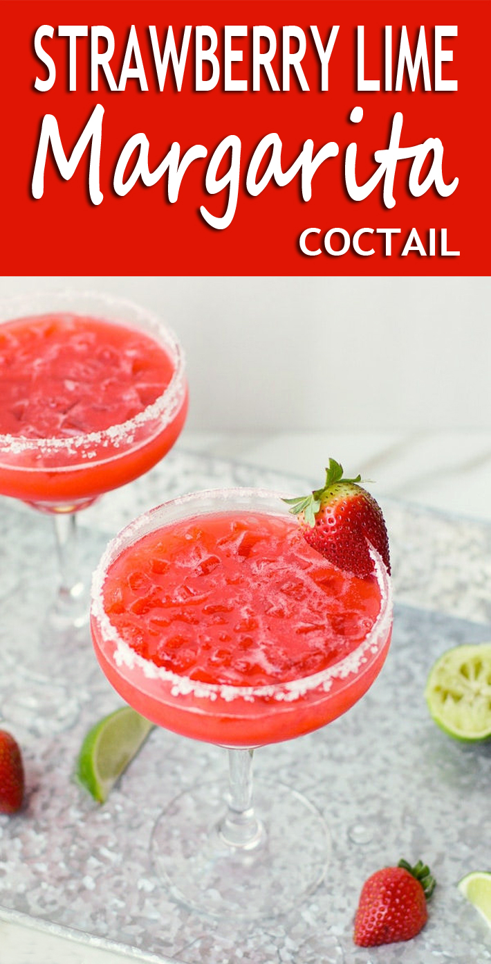 Strawberry Lime Margarita Coctail