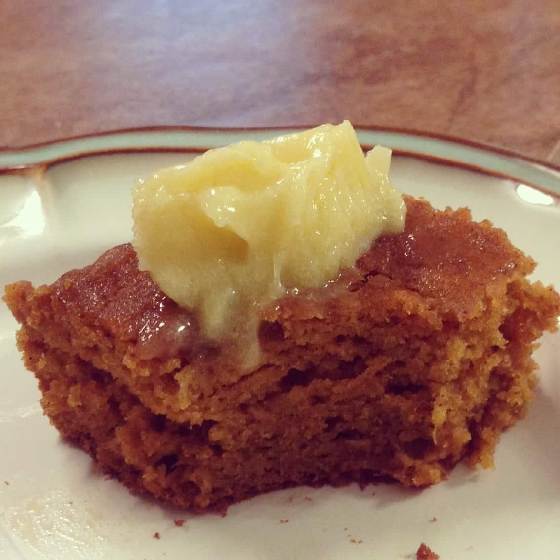 Gluten Free Pumpkin Gingerbread with Lemon Curd