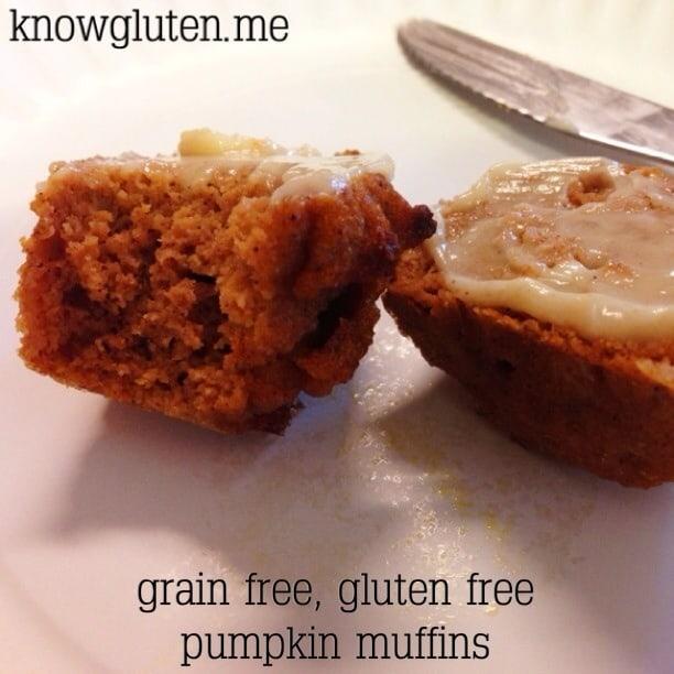 Gluten Free, Grain Free Pumpkin Muffins