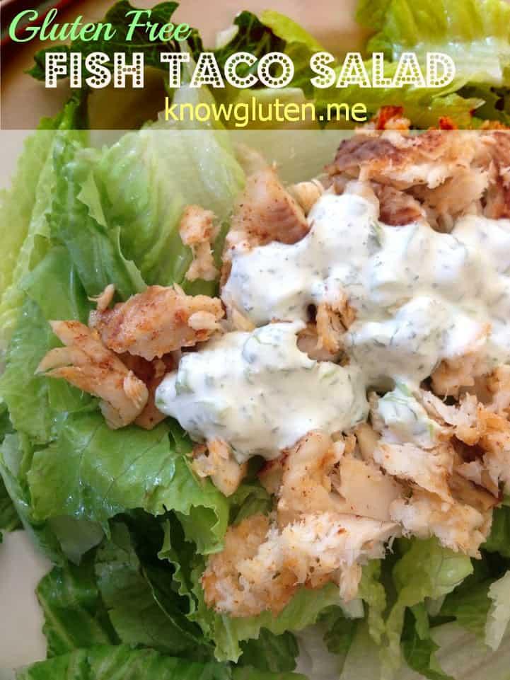 Gluten Free Fish Taco Salad from Knowgluten.me