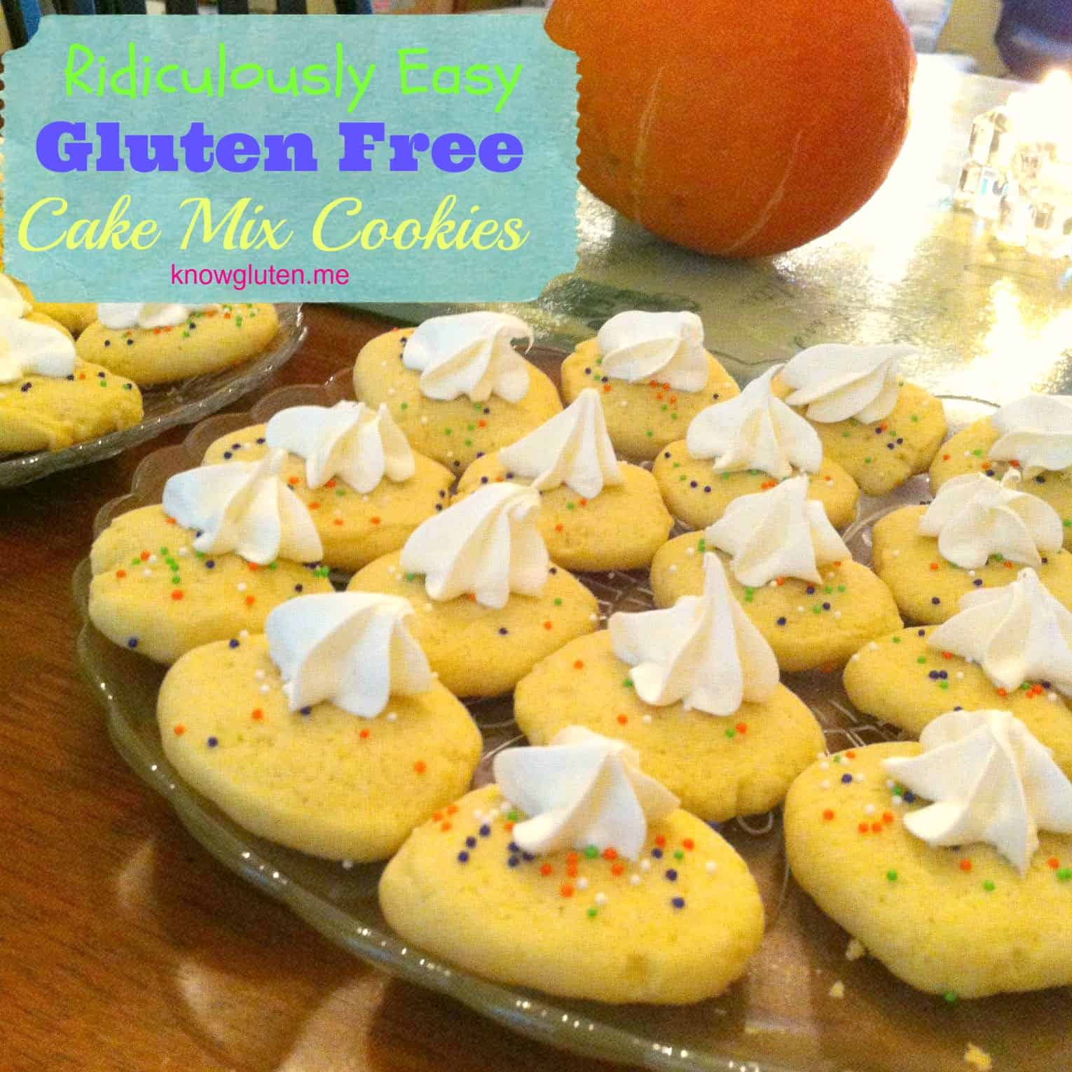 Ridiculously Easy Gluten Free Cake Mix Cookies