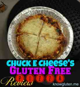 Chuck E Cheese's Gluten Free Pizza Review on Knowgluten.me
