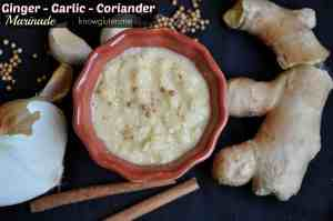Gluten Free Ginger Garlic Coriandar Marinade from knowgluten.me