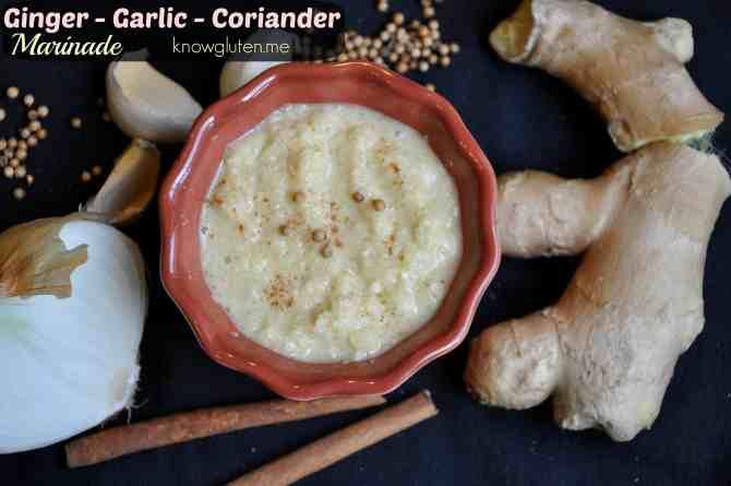 Gluten Free Ginger Garlic Coriandar Marinade from knowgluten.me