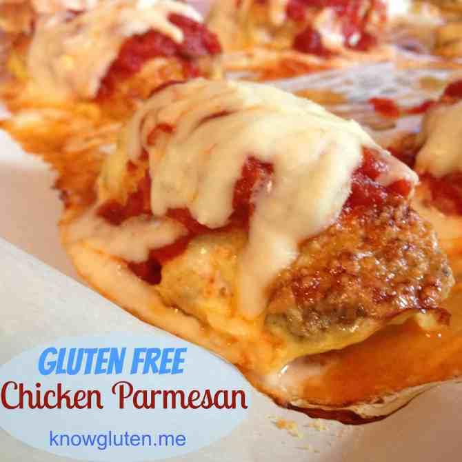 Gluten free chicken parmesean from knowgluten.me