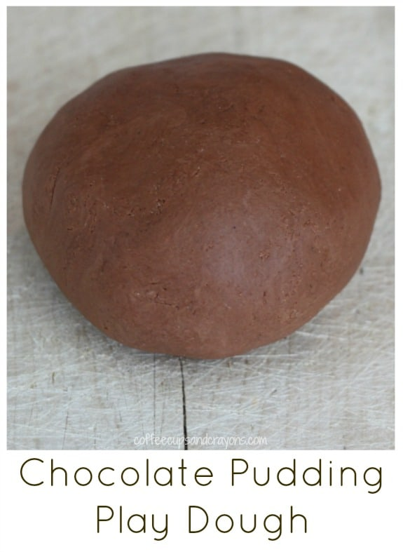Chocolate Pudding Play Dough from Coffee Cups and Crayons