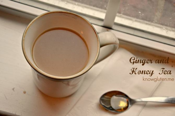 Ginger and honey tea from knowgluten.me