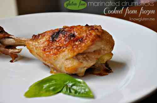 Easy Gluten Free Marinated Drumsticks Cooked From Frozen from knowgluten.me perfect for a busy weeknight!!
