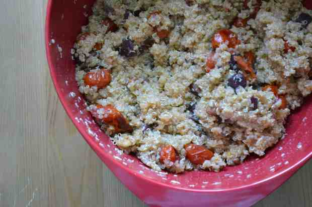 Quinoa with Roasted Tomatoes, Walnuts and Olives from Warm Vanilla Sugar. This recipe is gluten free if made with water or gluten free broth. {click the picture for the recipe}