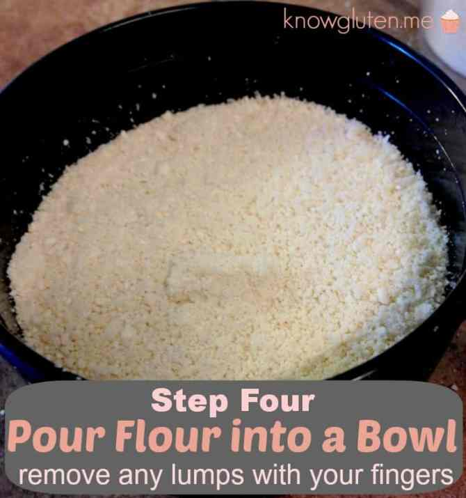 Step 4 pour flour into a bowl, remove any lumps with your fingers. How to make your own cashew flour knowgluten.me