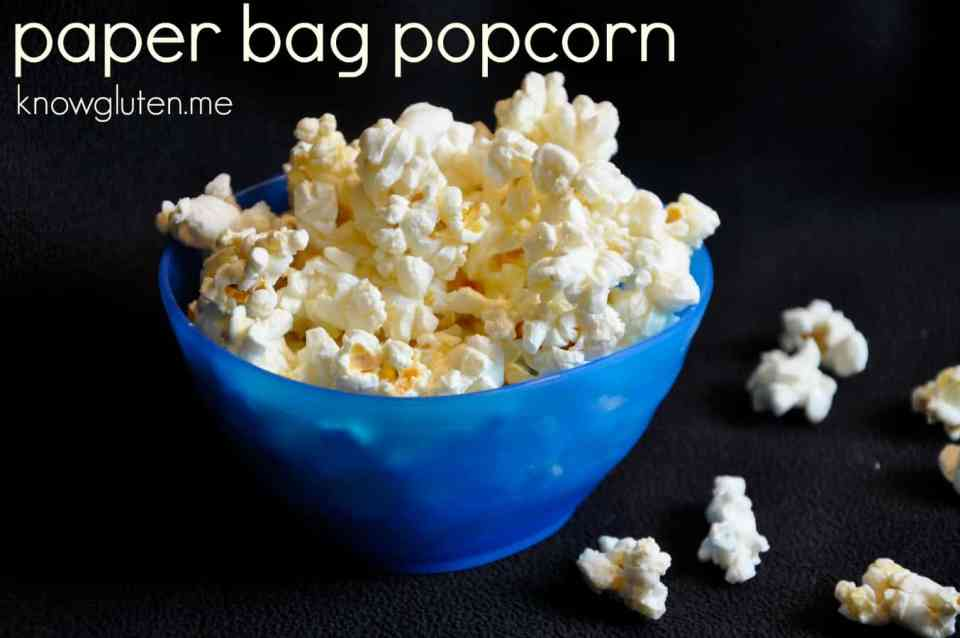 Paper bag popcorn from knowgluten.me