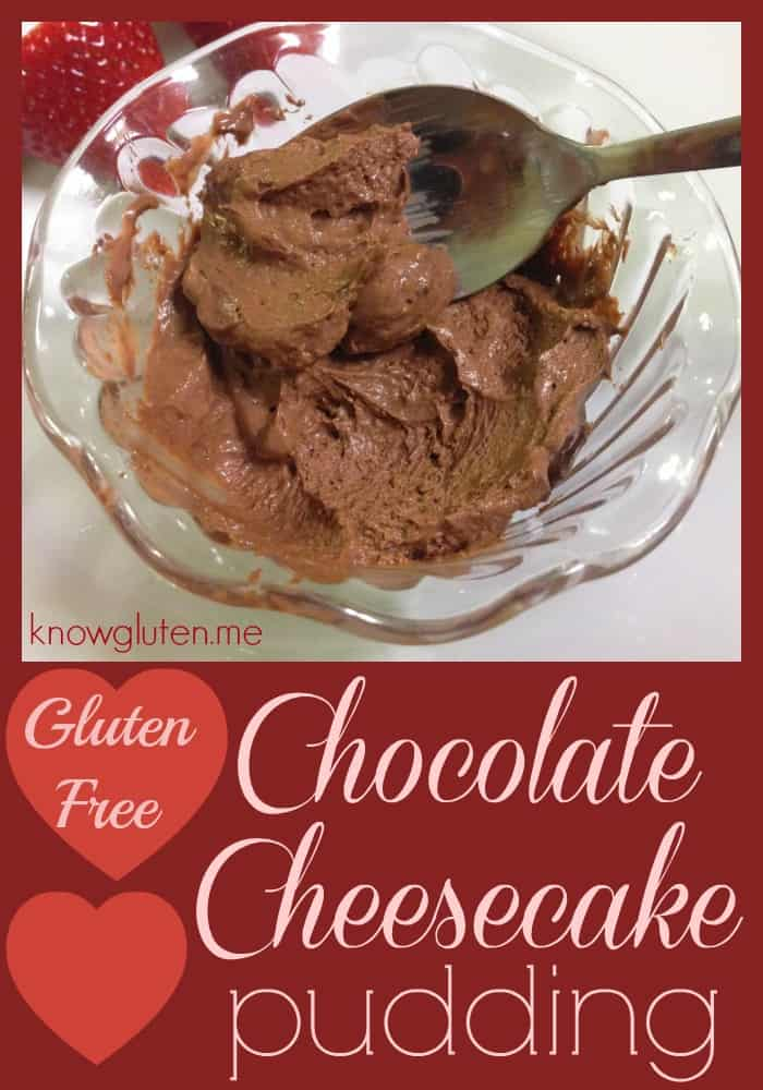 Gluten Free Chocolate Cheesecake Pudding from knowgluten.me